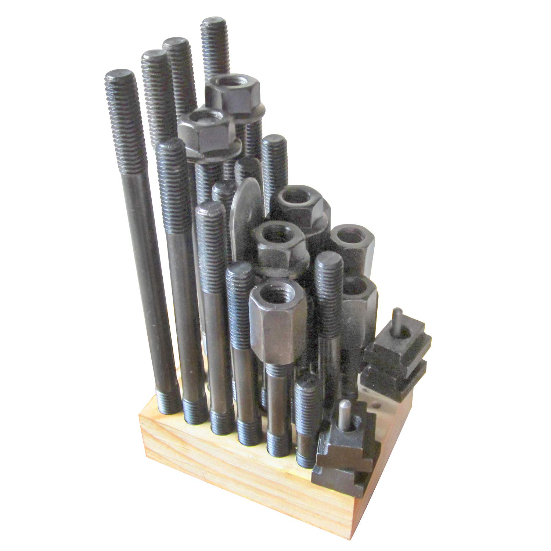 HFS 5//8 T-Slot 1//2-13 Stud 38 pcs T-Nut /& Stud Set