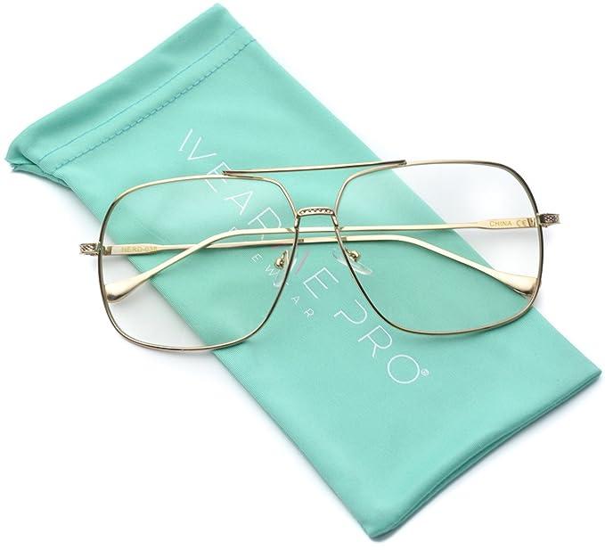 4003526c716 Amazon.com  WearMe Pro -70 s Style Clear Lens Non Prescription Metal ...