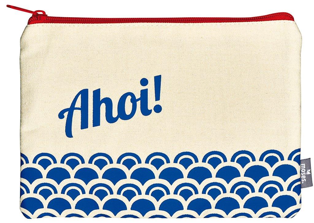 moses. Fernweh Täschchen AHOI Kosmetiktäschchen, 22 cm, Mehrfarbig 82334