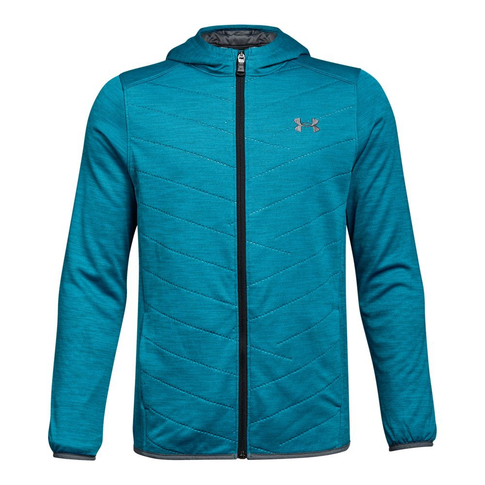 Under Armour Boys' ColdGear Reactor Hybrid Jacket,Bayou Blue (953)/Rhino Gray, Youth X-Large by Under Armour