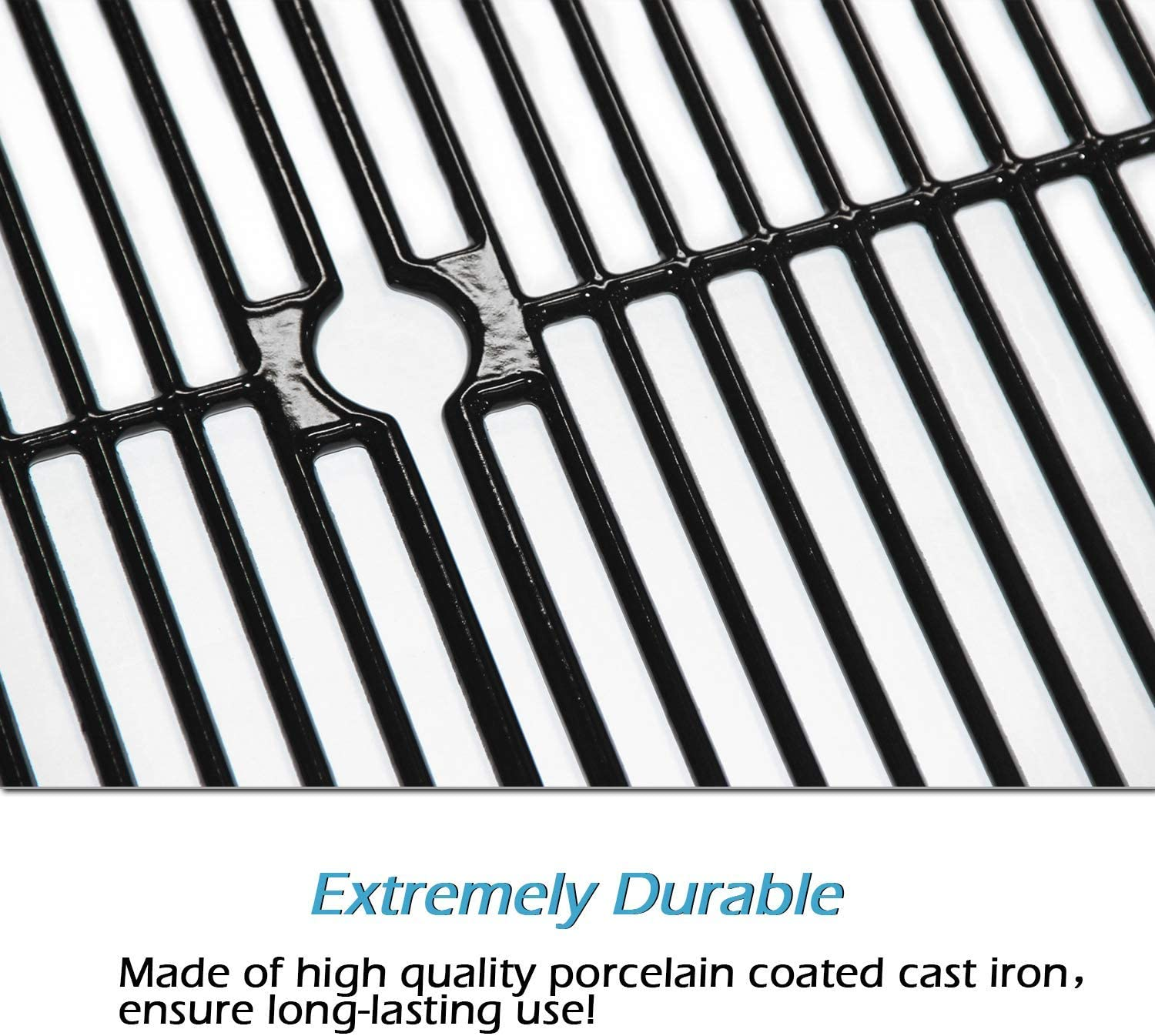 Cast Iron Cooking Grid Grates Replacement for Brinkmann 810-2410-S 810-8410-F 810-7490-F Votenli C6410C 810-2411-S 810-2511-S 810-2411-F 810-8410-S 810-8411-5 3-Pack 810-4557-0