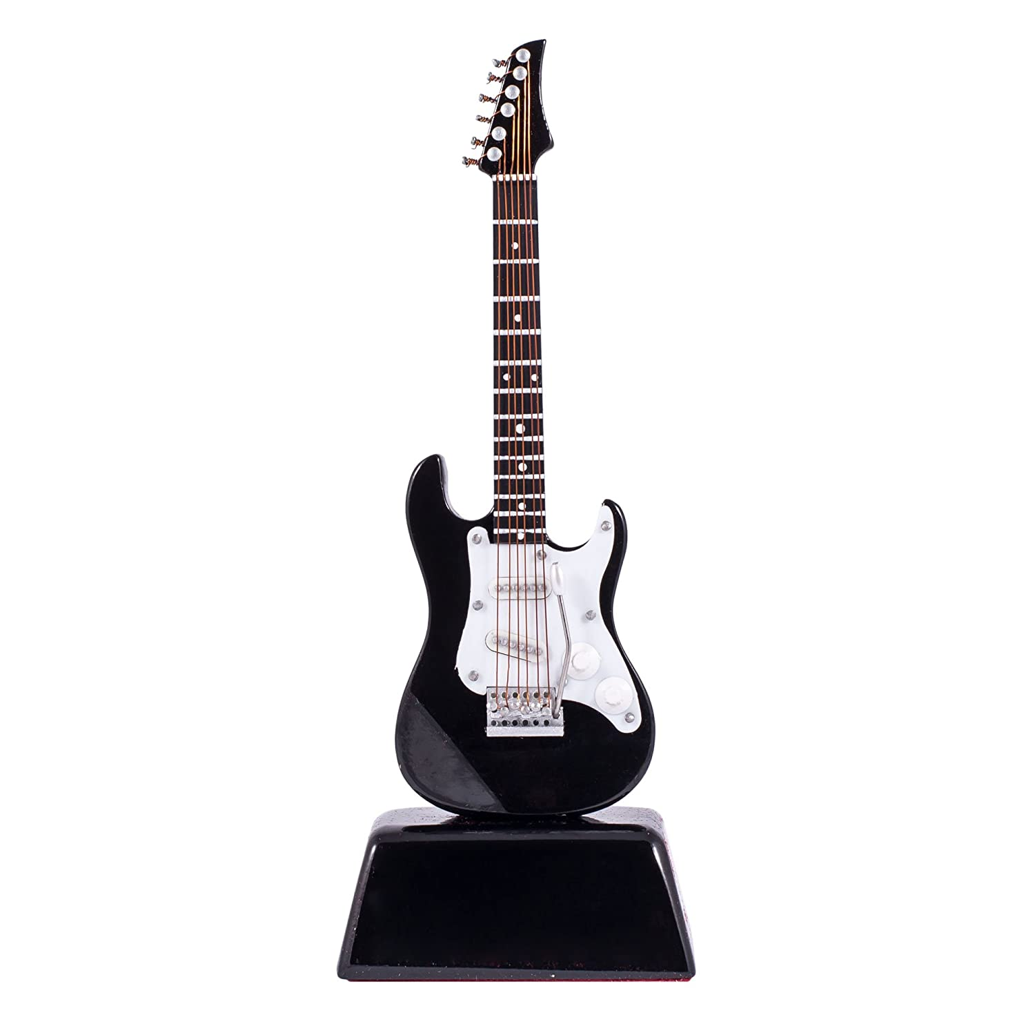 gibson black electric guitar music instrument miniature