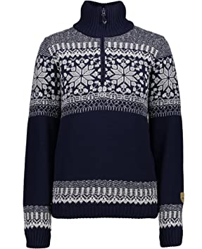 Bekleidung Skisport & Snowboarding CMP Damen Pullover Woman Knitted mit Wind Protect Membrane navy M982