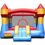 Costzon Inflatable Bounce House, Slide Bouncer Kids Party Jump Castle Moonwalk Playhouse Without Blower