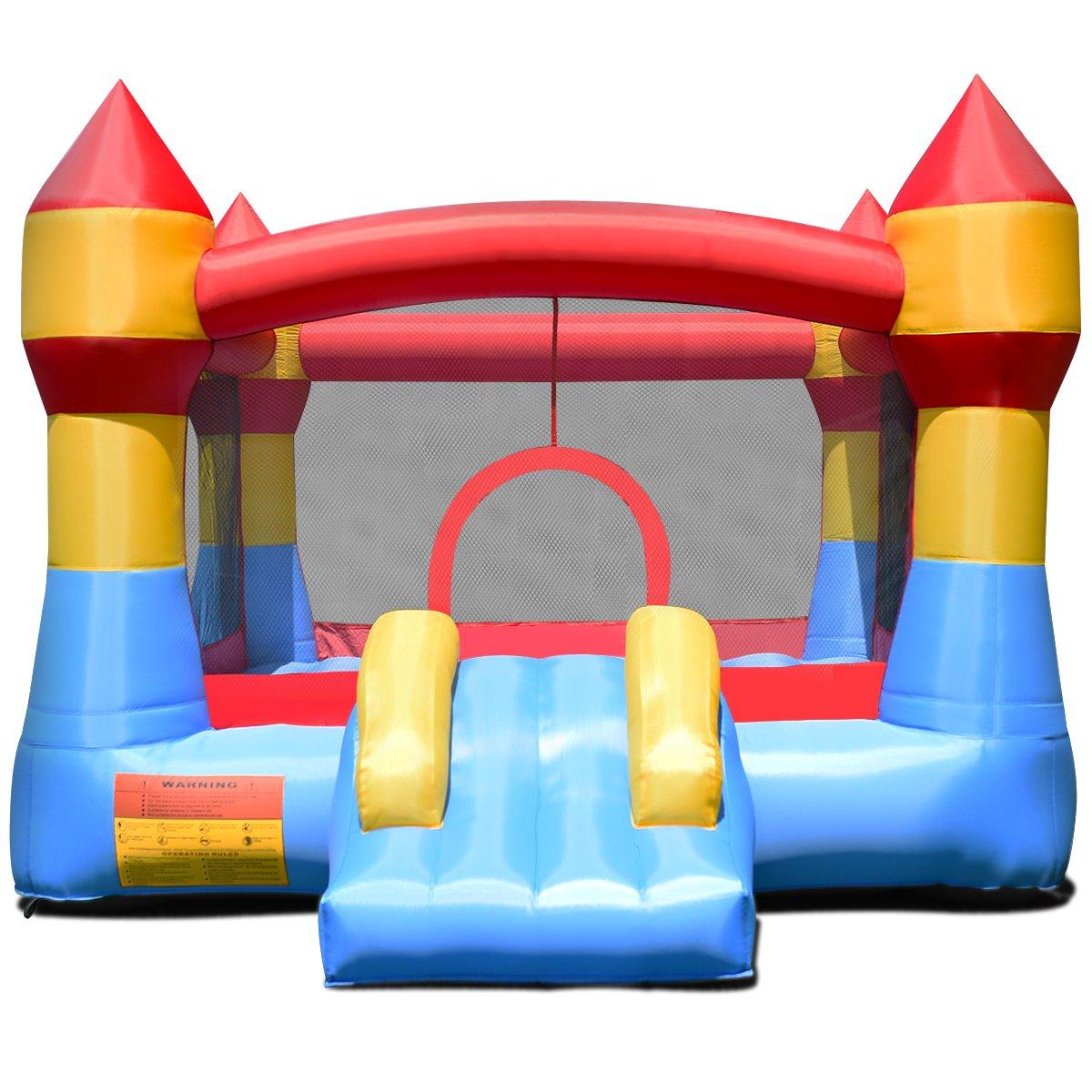 COSTWAY Castillo Hinchable con Tobog/án para Ni/ños 370x280x230cm Infantil Jueguete para Parque Patio Jard/ín