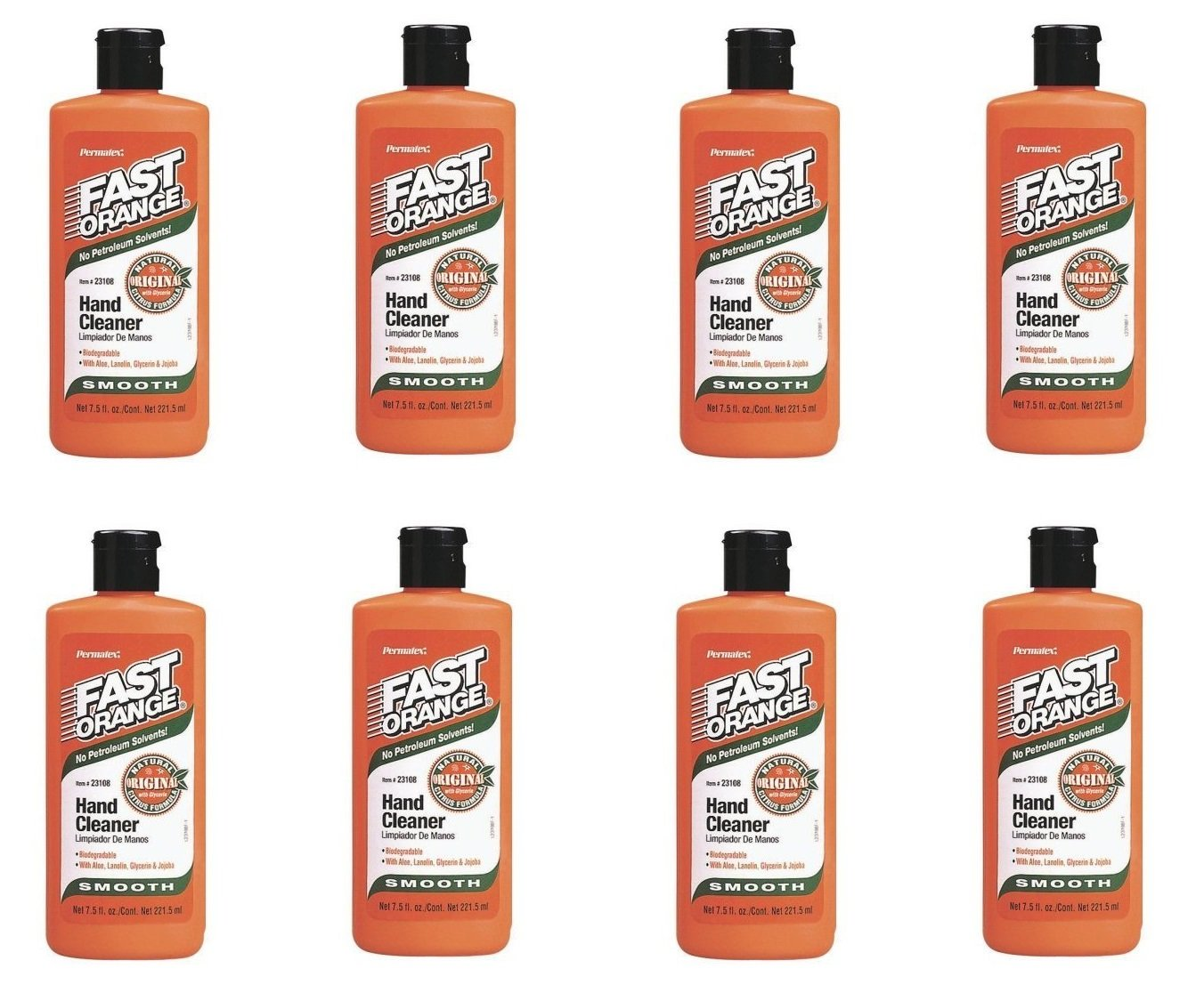 Permatex ® 23108 Fast Orange Smooth Lotion Hand Cleaner - 7.5 oz Bottle (8)