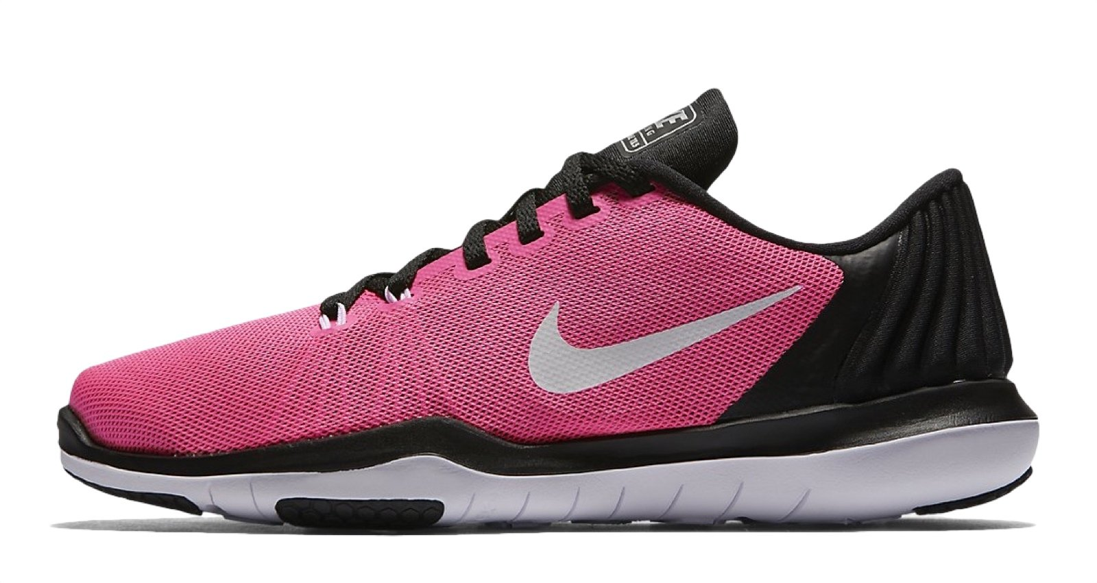 New Nike Girl's Flex Supreme TR 5 Athletic Shoe Pink/Black/White 5.5