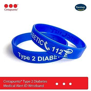 9b4e052e3767 Cinta punto® tipo 2 Diabetes pulsera pulsera medicinal