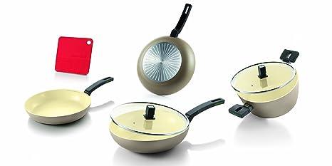 Moneta - Batería de cocina de 7 piezas (sartén de 24 cm y 28 cm