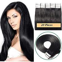 """14"""" Tape in Extensions prawdziwe ludzkie włosy 20 szt. 100% Remy Skin Weft Niewidoczne kawałki włosów dla kobiet proste…"""