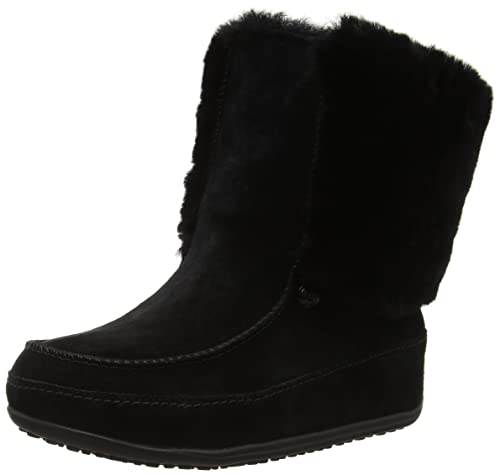 Fitflop Women's Supercuff Mukluk Ankle Boots, Black (Black), 3 UK 36 EU