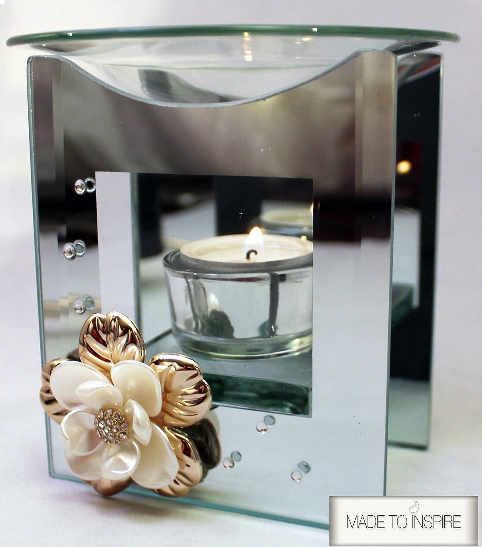 3D Flower Yankee Candle Compatible Tart/Wax/Oil Burner Warmer Tea Light Holder Klass Home Collection