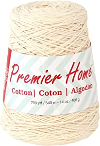 Premier Yarns 1033-02 Home Cotton Yarn - Solid Cone-Cream