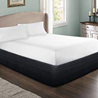 """MARQUESS Polyester Blended Quilted Bed Skirt, Sagging Sense Enhanced,Anti-Wrinkle, Fade Resistant Dust Ruffle with Classic 13"""" Length Drop, for Bedroom"""