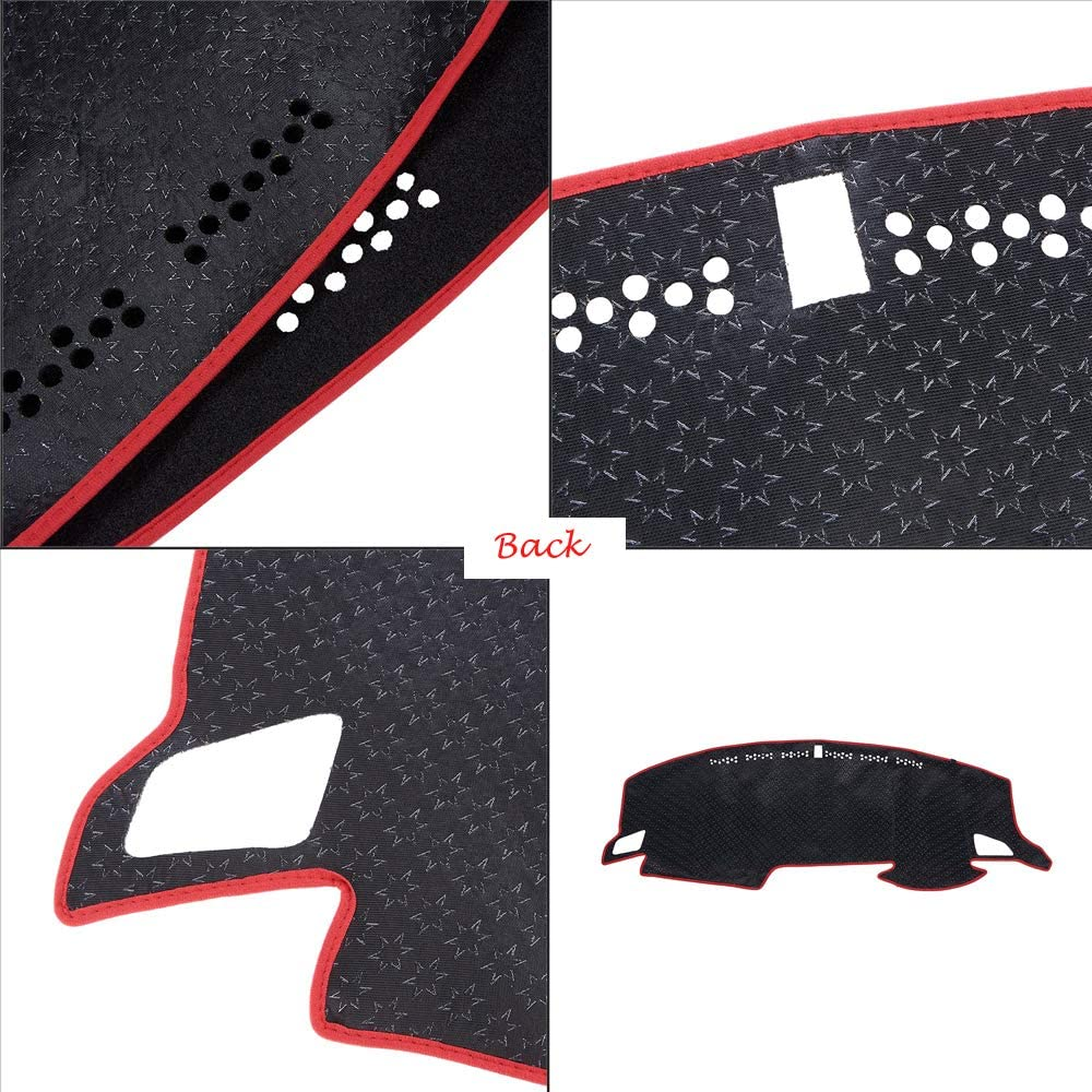 Red Line ATMOMO Car Dashboard Cover Double Anti-Skid Dashboard Mat Center Console Protector Cover Mat Sunshield Cover Mat Compatible with Camry 2007-2011
