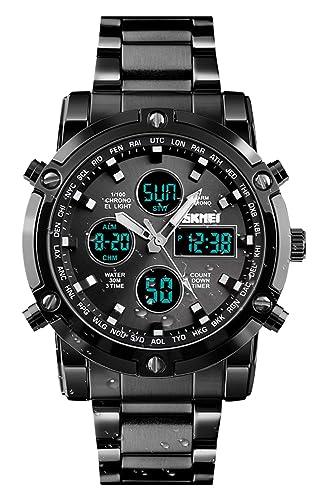 cb2cf6c3d996 Reloj analógico Digital para Hombres - Reloj Deportivo Militar para Hombre  con Alarma Cuenta Regresiva