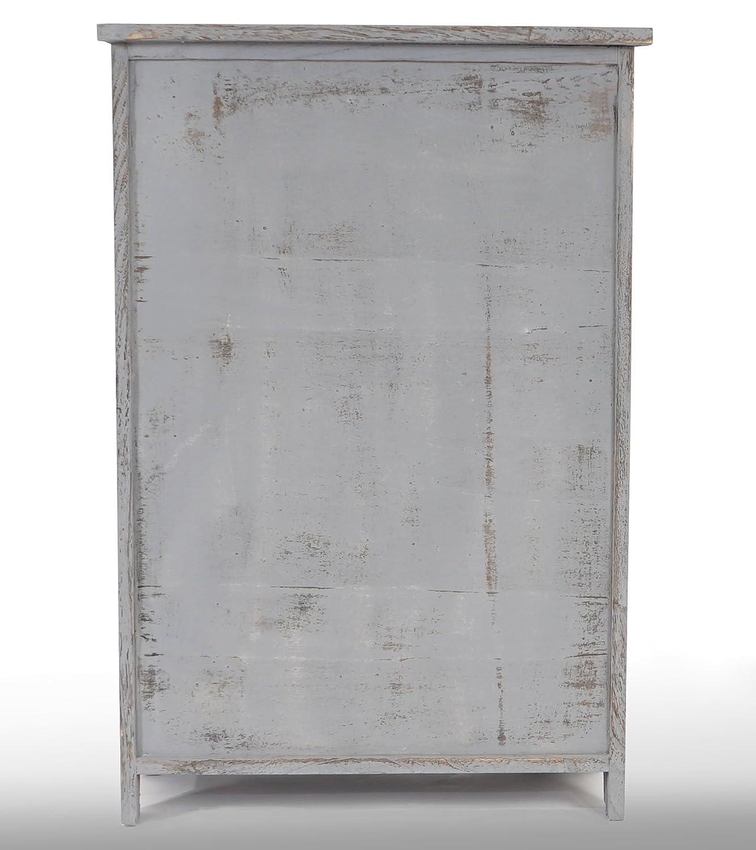 Mendler Kommode HWC-D12, Schrank Schubladenkommode, Shabby-Look Shabby-Look Shabby-Look Vintage 82x55x30cm  weiß 37fbcd