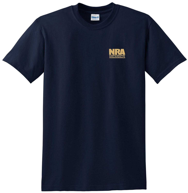 f49d3cfd Top12: NRA Member T-shirt Gold Logo Left Chest Tee Gun Owner Tee