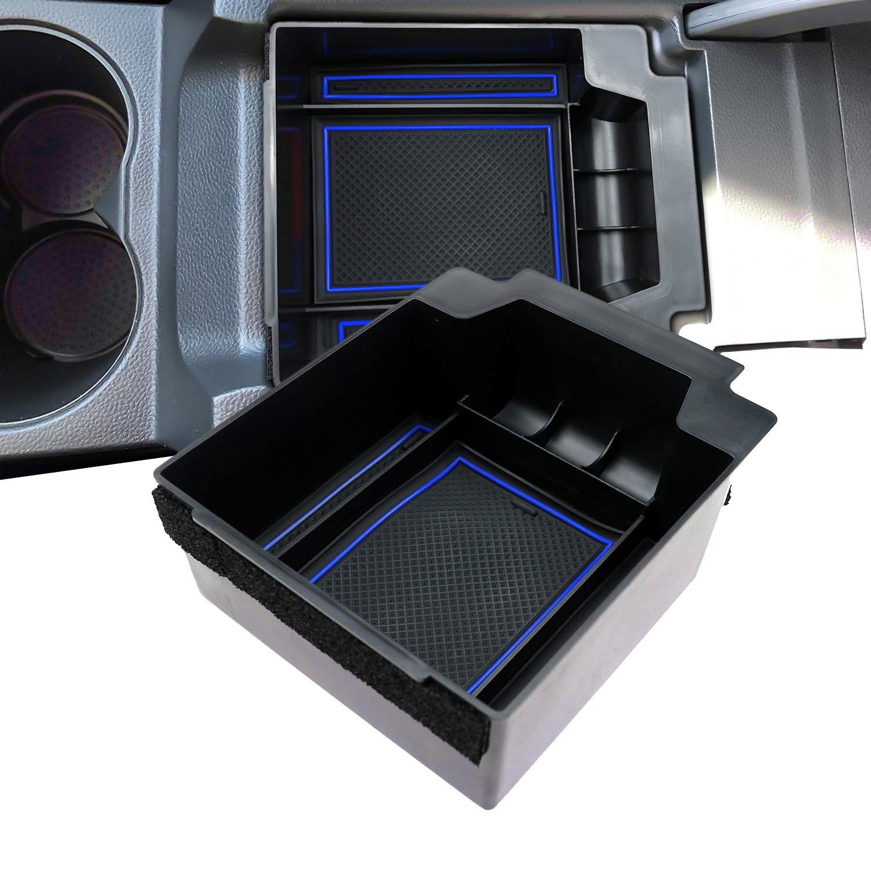 Holder Secondary Container LFOTPP Armrest Storage Box for Ateca Car Center Console Organizer Blue
