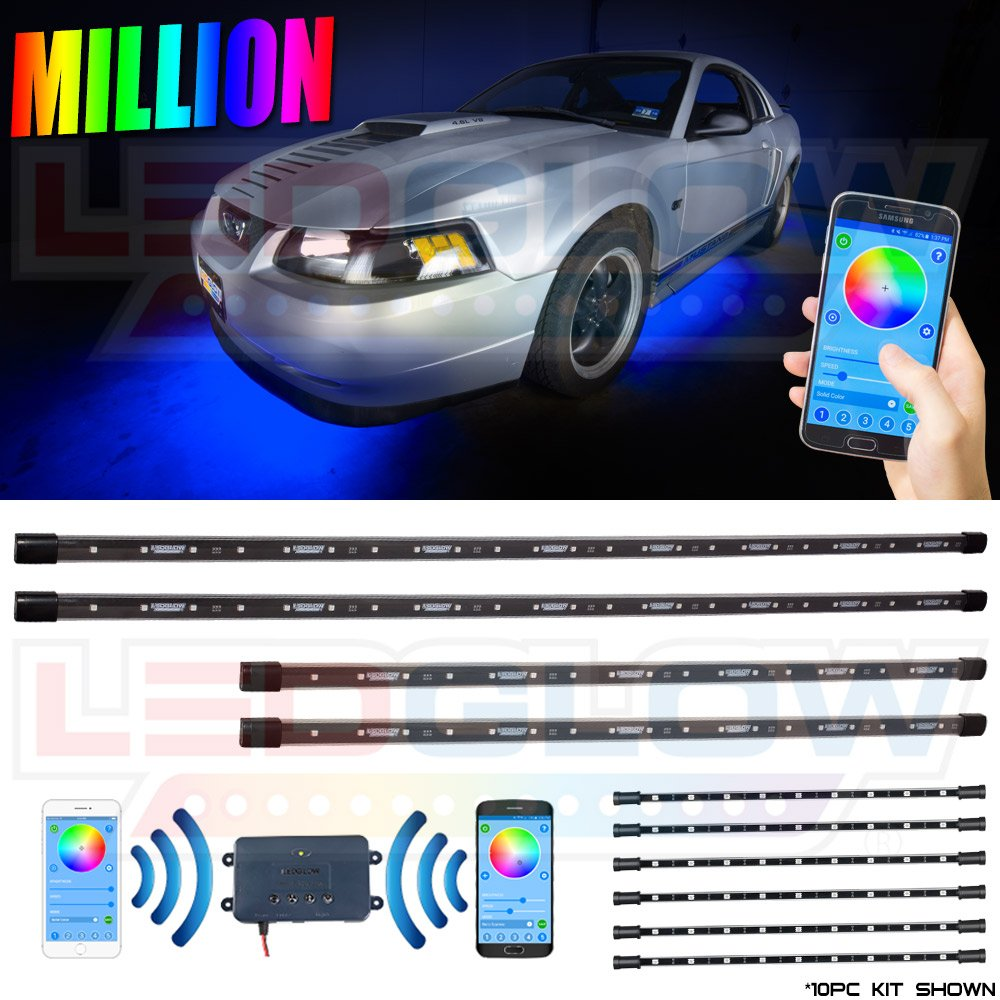 Car color kit - Million Color Smd Led Underbody And Interior Lighting Kit With Smartphone Control Automotive
