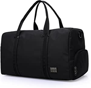LUXUR Travel Duffel Carry on Bag Waterproof Weekender Luggage for Back to College Hiking Business Gym Backpack (45L)