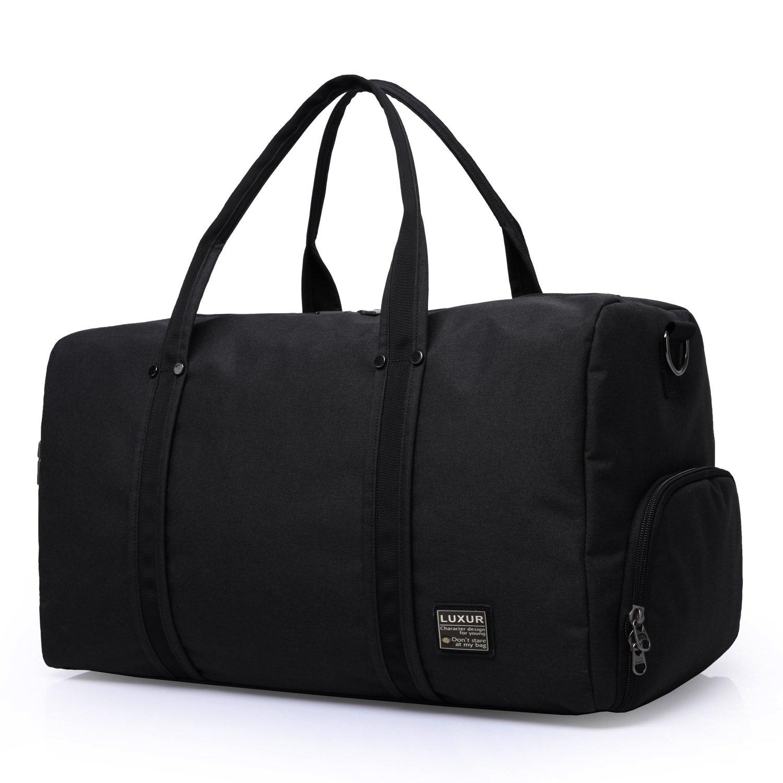 LUXUR Travel Duffel Bag Waterproof Weekender Luggage for Hiking Business Gym (45L)