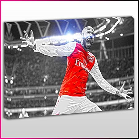 finest selection 7ca0e bd0da S269 Arsenal Thierry Henry Black&White Highlighted Framed Ready To Hang  Canvas Print, Sport, Pop Street Wall Art, Picture
