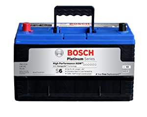4. Bosch S6551B S6 Flat Plate AGM Battery