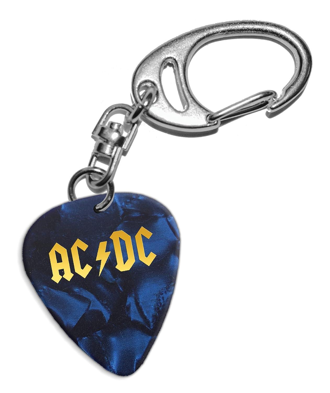 Acdc Chitarra Plettro Portachiavi Keyring Blue Pearl GHF
