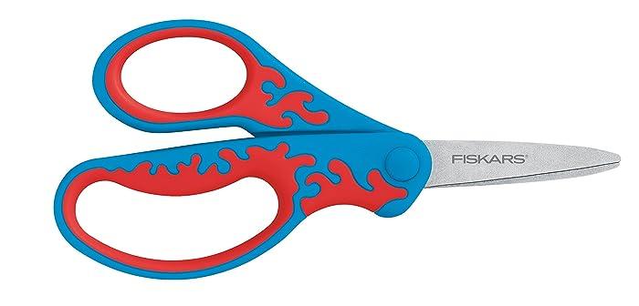 """Fiskars 5"""" Kid Scissors Left-Handed Pointed-Tip, 2 Pack - Assorted color"""