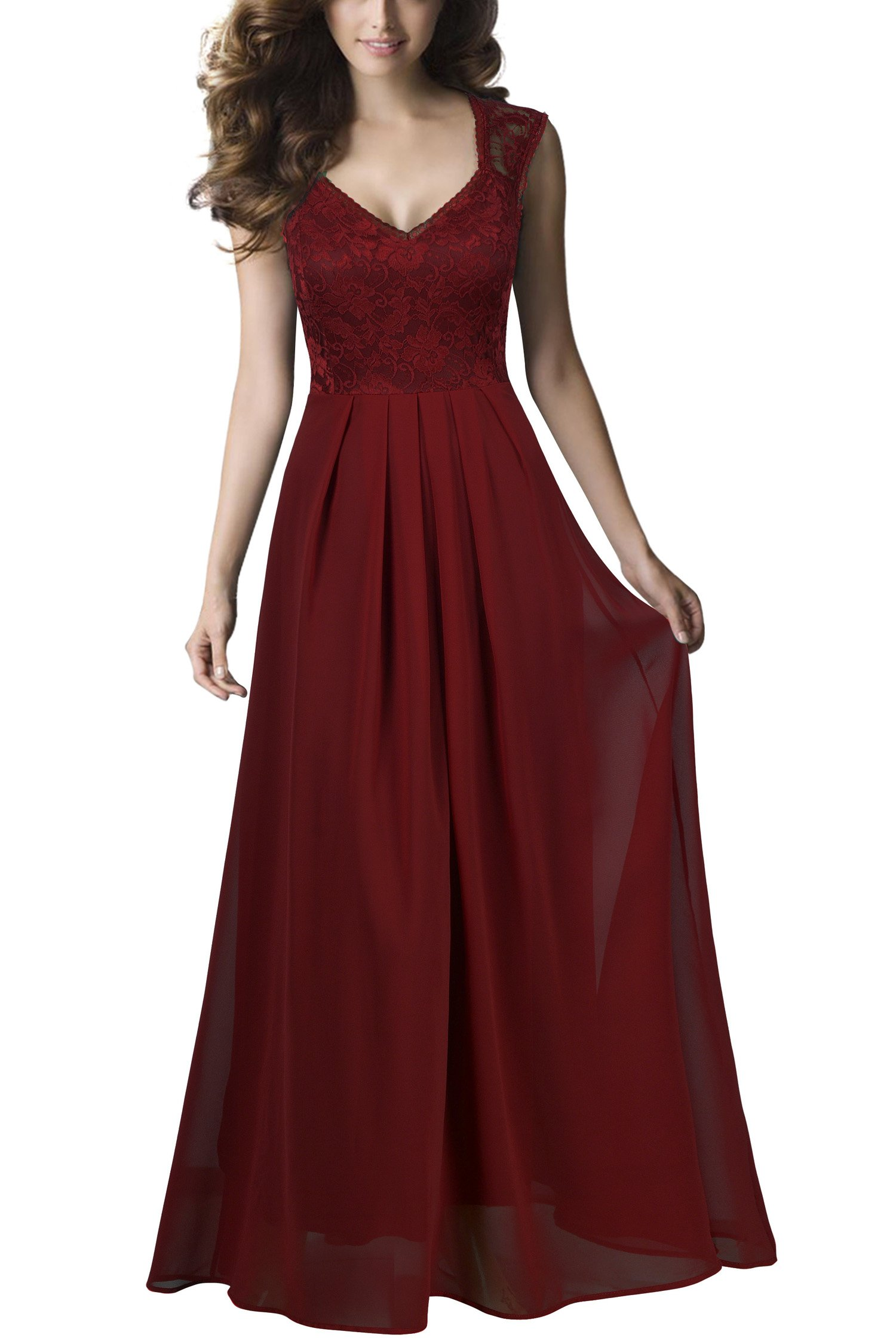 Abendkleider Knielang Rot: Amazon.de