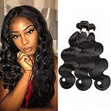 Beauhair Brazilian Human Hair Body Wave 3 Bundles 8A Human Hair 100% Unprocessed Virgin Hair Natural Color(10 12 14)
