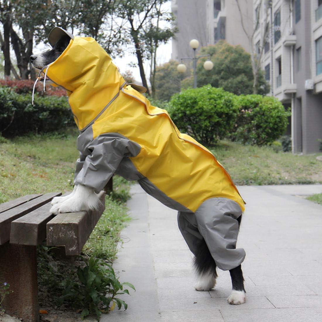 VICTORIE Mascota Perro Impermeables Chubasqueros Invierno Nieve Jacket con Capucha para Medianas y Grandes Perros Andar excursi/ón Acampada deambular verdor XL