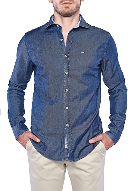 OranJeans 0C381 Camisa Tejana Corte Slim fit Tejido Suave y ...