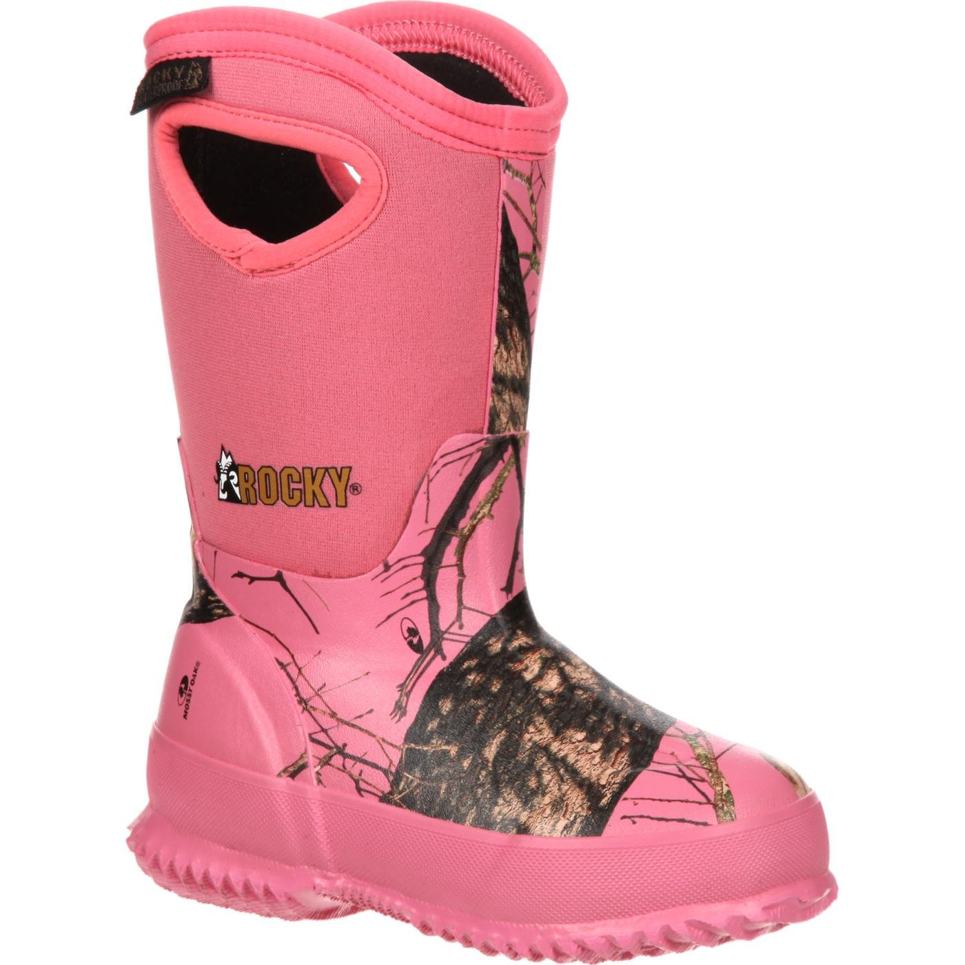 Rocky Core Little Kids' Pink Camo Waterproof 400G Insulated Rubber Boot