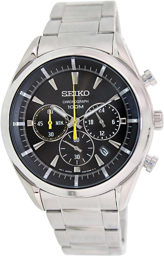 セイコー SEIKO クオーツ メンズ 腕時計 SSB087P1 ブラック [並行輸入品]