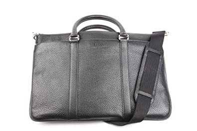 4e3c042a75 Image Unavailable. Image not available for. Colour  Bally Switzerland Laptop  Bag Migan 100% calfskin Black