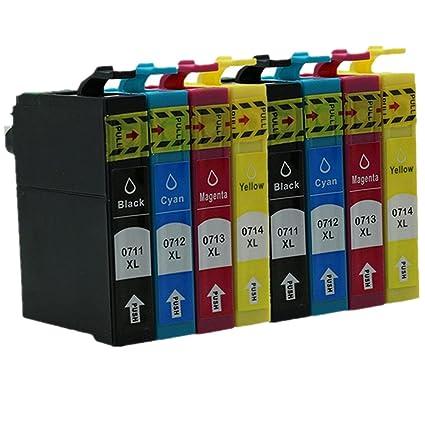2 Juegos de 8 Cartuchos de Tinta de Repuesto para Epson Stylus ...