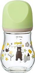 ピジョン Pigeon 母乳実感 哺乳びん my Precious 耐熱ガラス製 クマ 160ml 0ヶ月から おっぱい育児を確実にサポートする哺乳びん