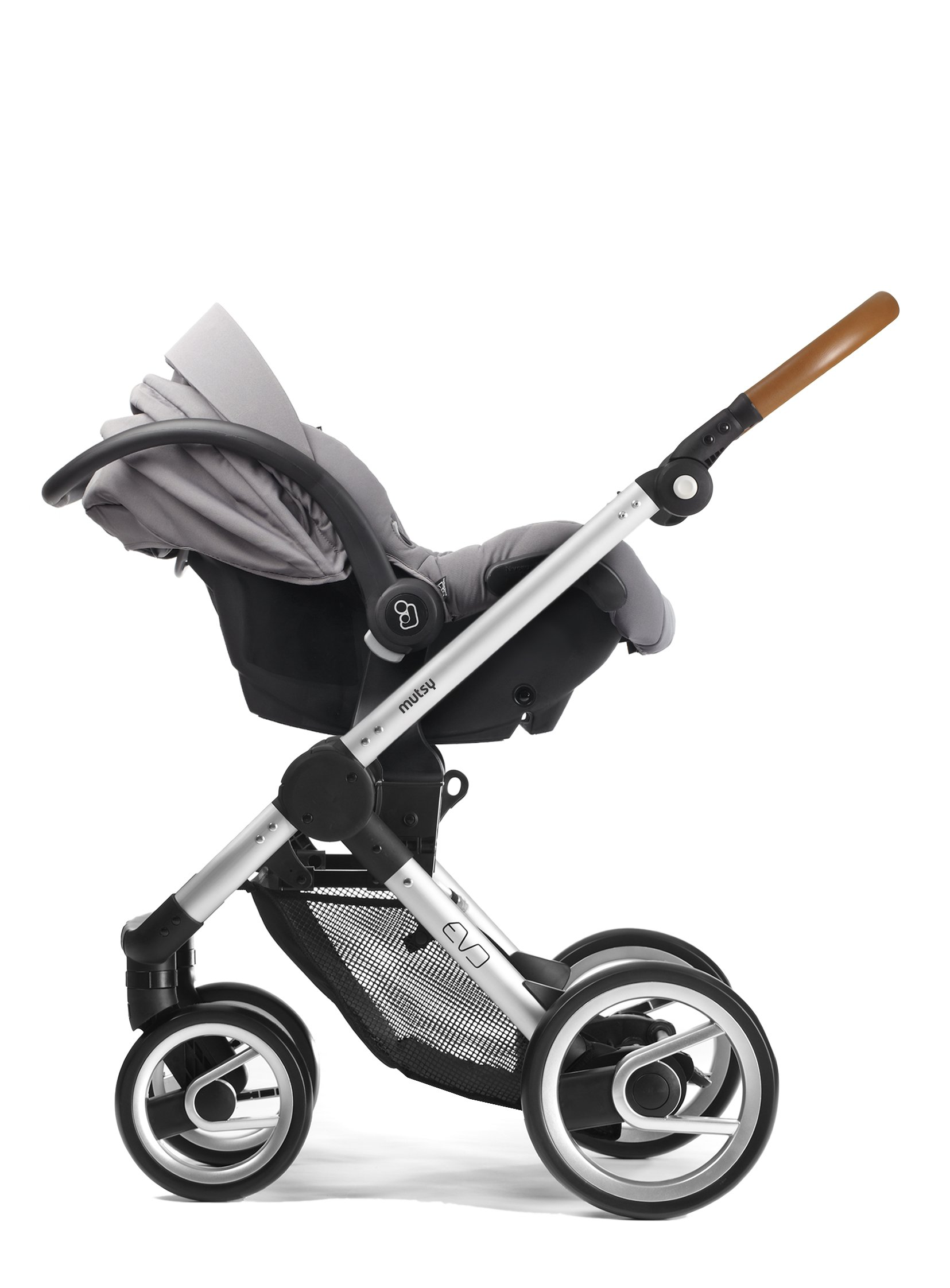 Mutsy Evo Industrial Edition Stroller, Grey with Silver Chassis by Mutsy (Image #6)