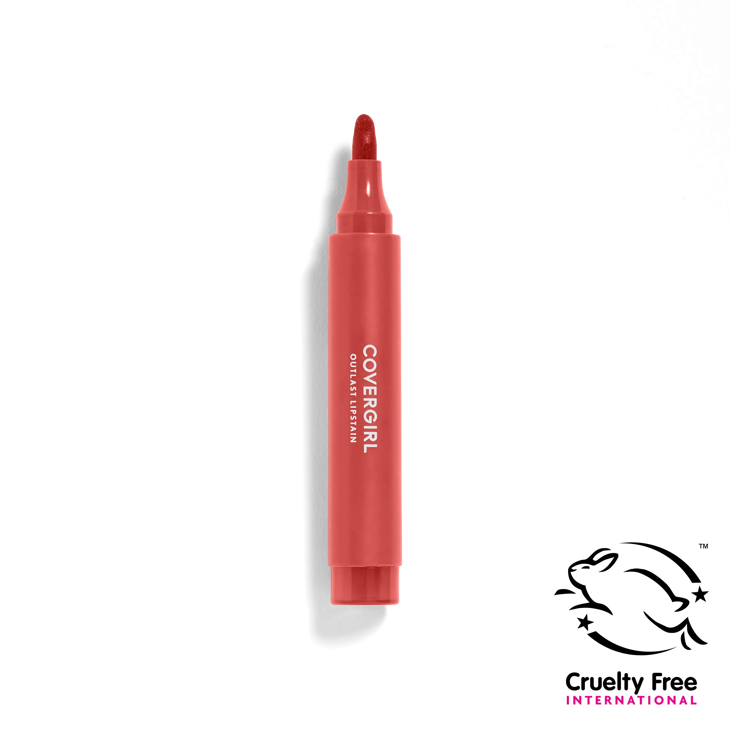 COVERGIRL Outlast Lipstain, Flirty Nude 435, 0.09 Ounce (Packaging May Vary) Water-Based Lip Color with Precision Applicator