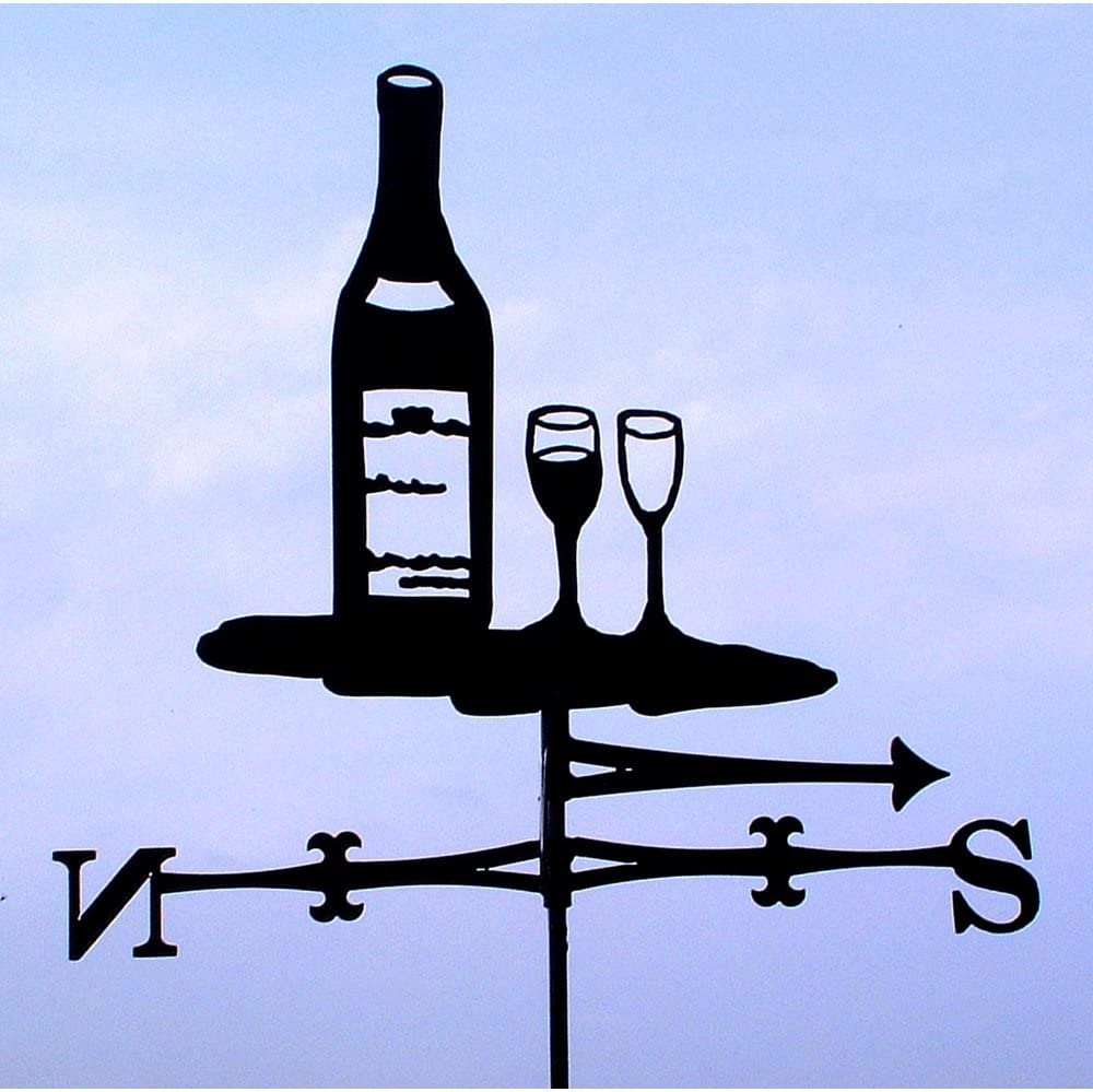 The Profiles Range weathervane in wine bottle design