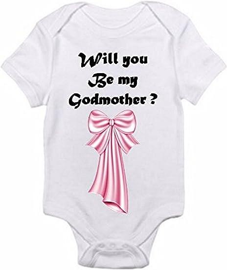 Will you be my GodfatherGodmother Bodysuits set of 2