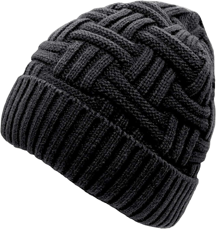 Chalier - Gorro de Lana para Hombre, cálido, para Invierno, diseño de Calavera Negro BK Taille Unique: Amazon.es: Ropa y accesorios
