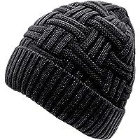 Chalier Mens Winter Warm Knitting Hats Wool Baggy Slouchy Beanie Hat Skull Cap