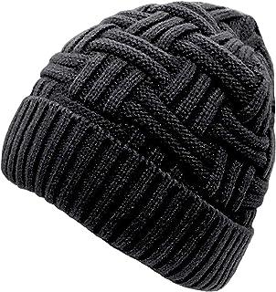 c936427e95f Chalier Mens Winter Warm Knitting Hats Wool Baggy Slouchy Beanie Hat Skull  Cap