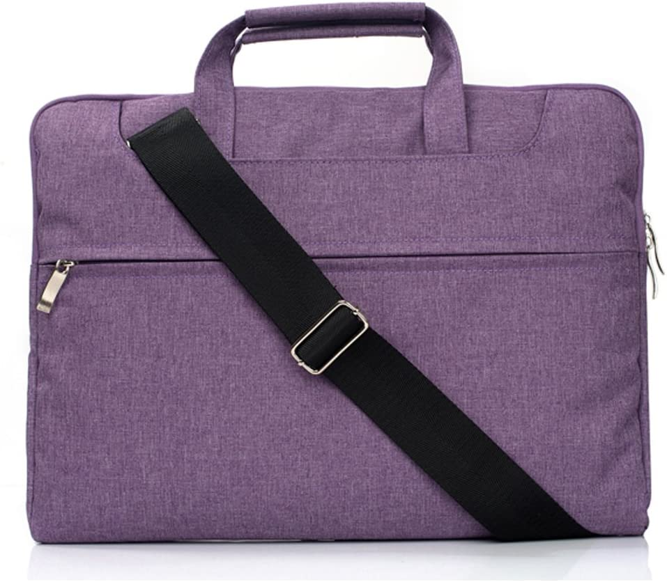 "elecfan 11.6 Inch Polyester Fabric Laptop Handbag,Notebook Sleeve, Carrying Case Computer Bag for 11"" MacBook Air 11.6"", 12"" MacBook A1534, 12.3"" Microsoft Surface Pro 4, HP Stream 11 Purple"
