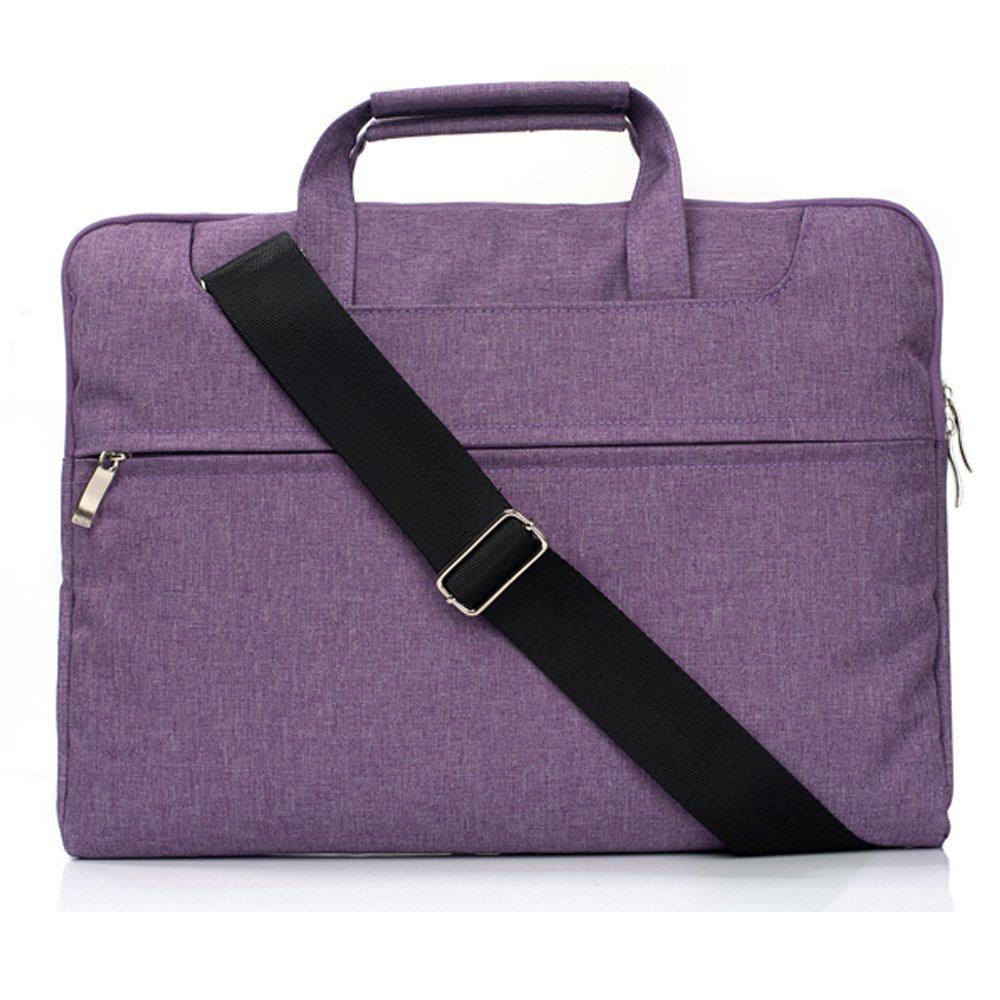 Laptop Bag 13 Inch Polyester Fabric Sleeve,MacBook Pro Retina 13 Late 2012-2015 Carrying Bag Crossbody Bag for Men & Women by Businda,Purple