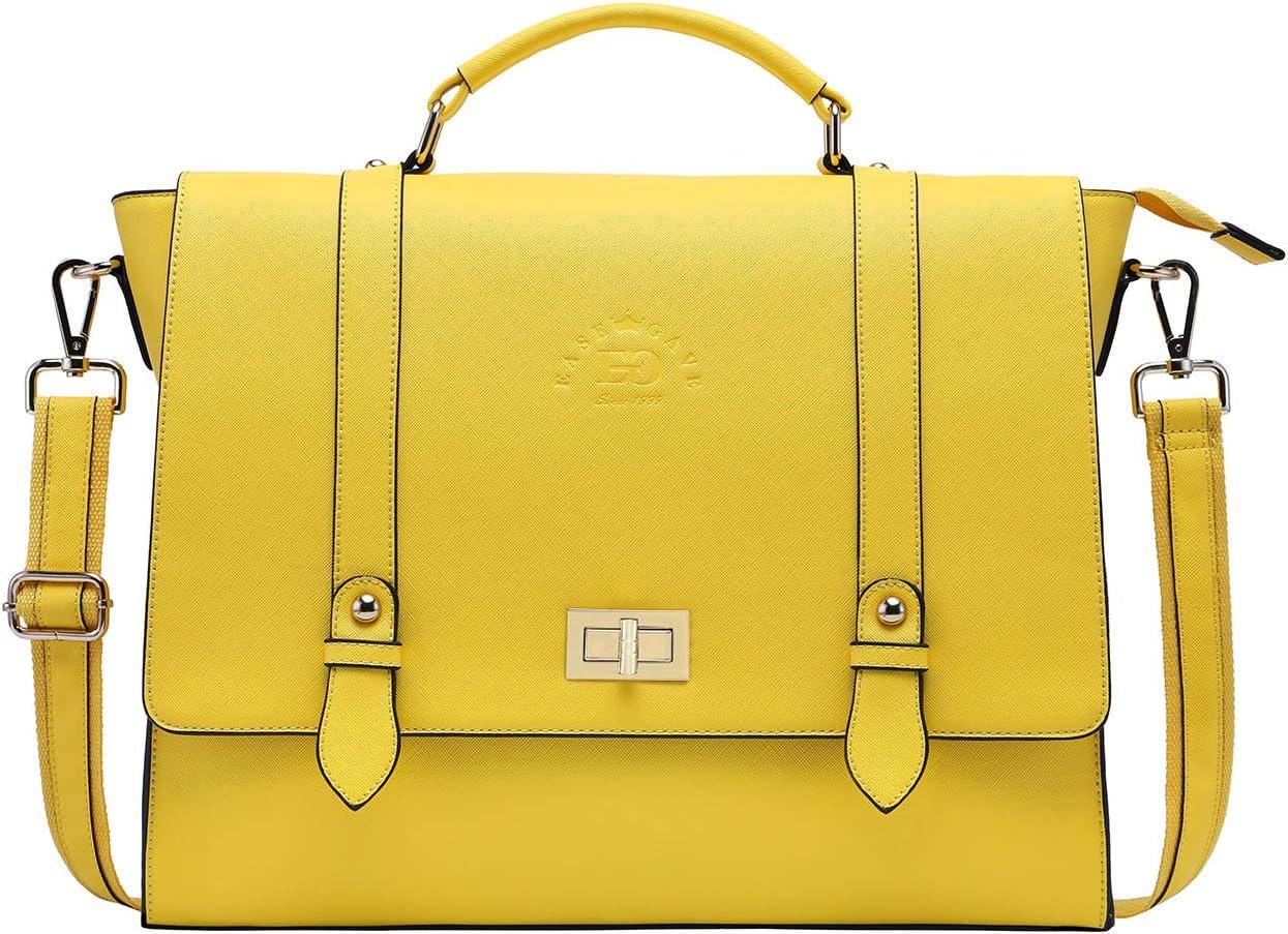17 Inch Briefcase for Women,Laptop Bag for Women Charming Lemon Computer Bags for Work Business Travel,lemon-17Inch