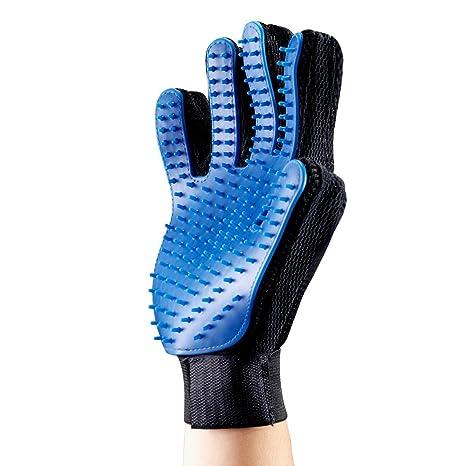 G-MOTIONS 2 x guantes para cepillado de masaje perro gato – Limpieza de pelo